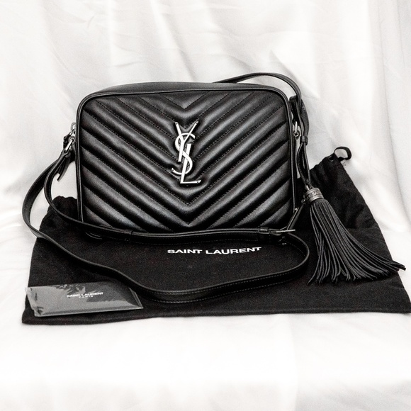 f9c677b4c Saint Laurent Lou Camera Bag (Black/Silver). M_5bfa0ef39539f77c6c272ce7